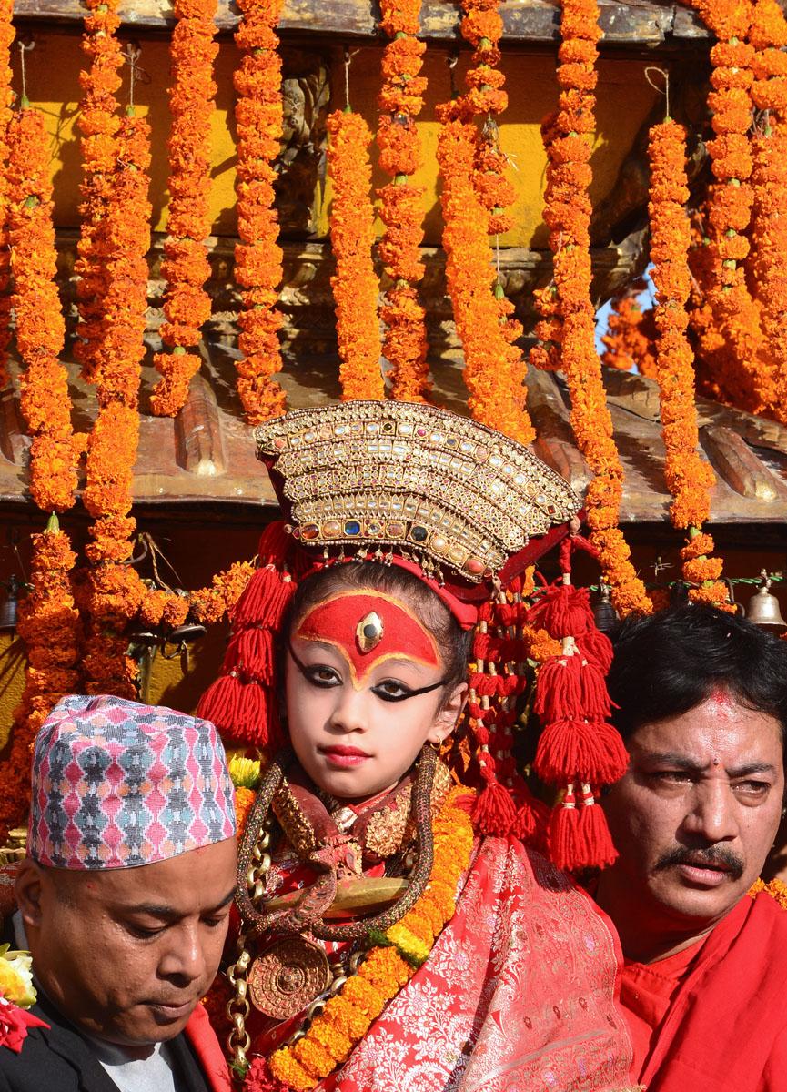 Kumari is a living goddess