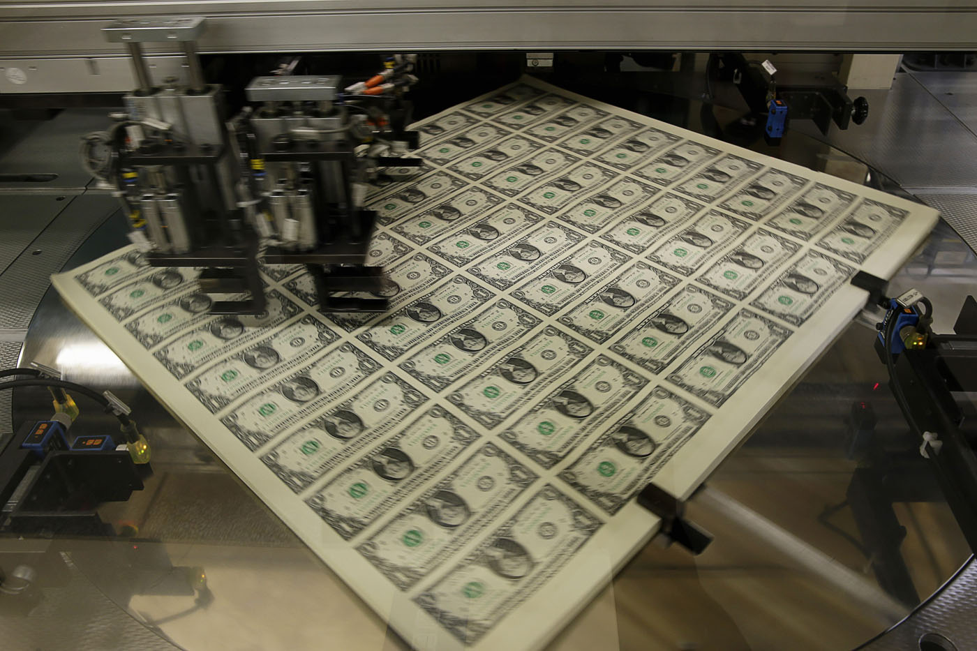 United States One Dollar Bills Get Rotated Before Being