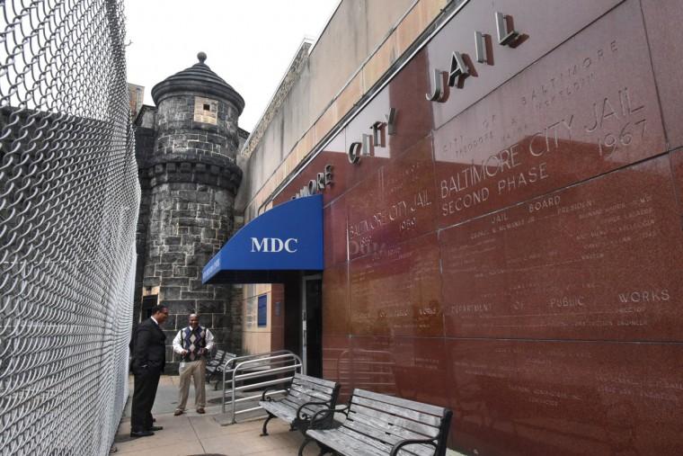Inside the closed Baltimore City Detention Center
