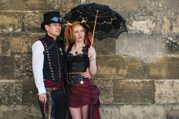 Costumed Enthusiasts Attend World Largest Steampunk Festival