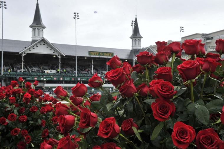 Общий вид розы в круг победителя до 2013 Кентукки Дерби в Черчилл-Даунс в Луисвилле, штат Кентукки.  (Джейми Родос / Спорт Сегодня США)