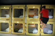 China Capsule Hotel Room With View