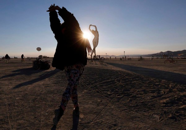 Rochelle Schieck Dances Truth Beauty Sculpture 2013 Burning Man Arts And
