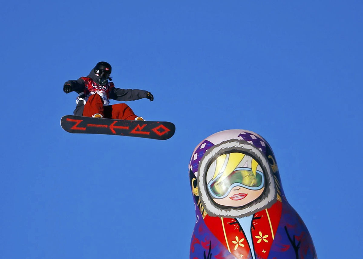 Sochi Olympics Day 3 Sage Kotsenburg Of Usa Takes 1st Gold For Slopestyle Hannah Kearney Takes