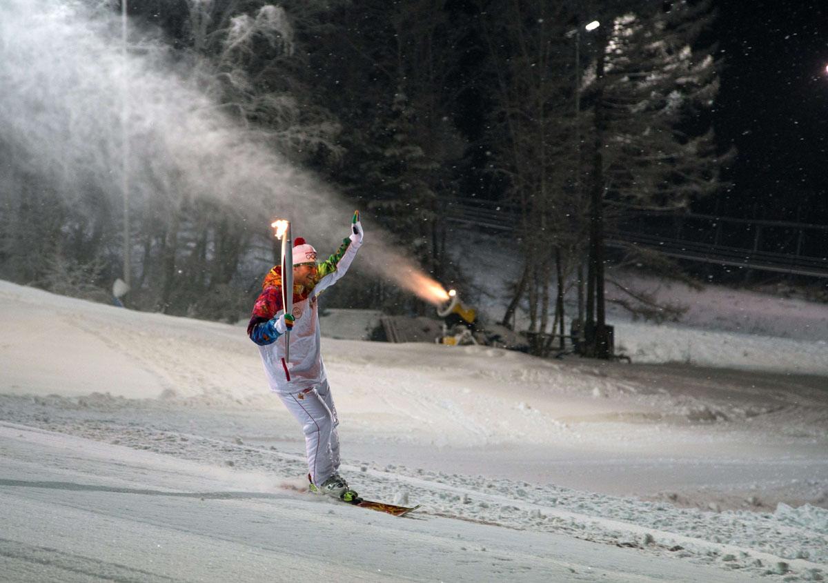 Winter Olympics Torch Relay Nears End Of Trek To Sochi