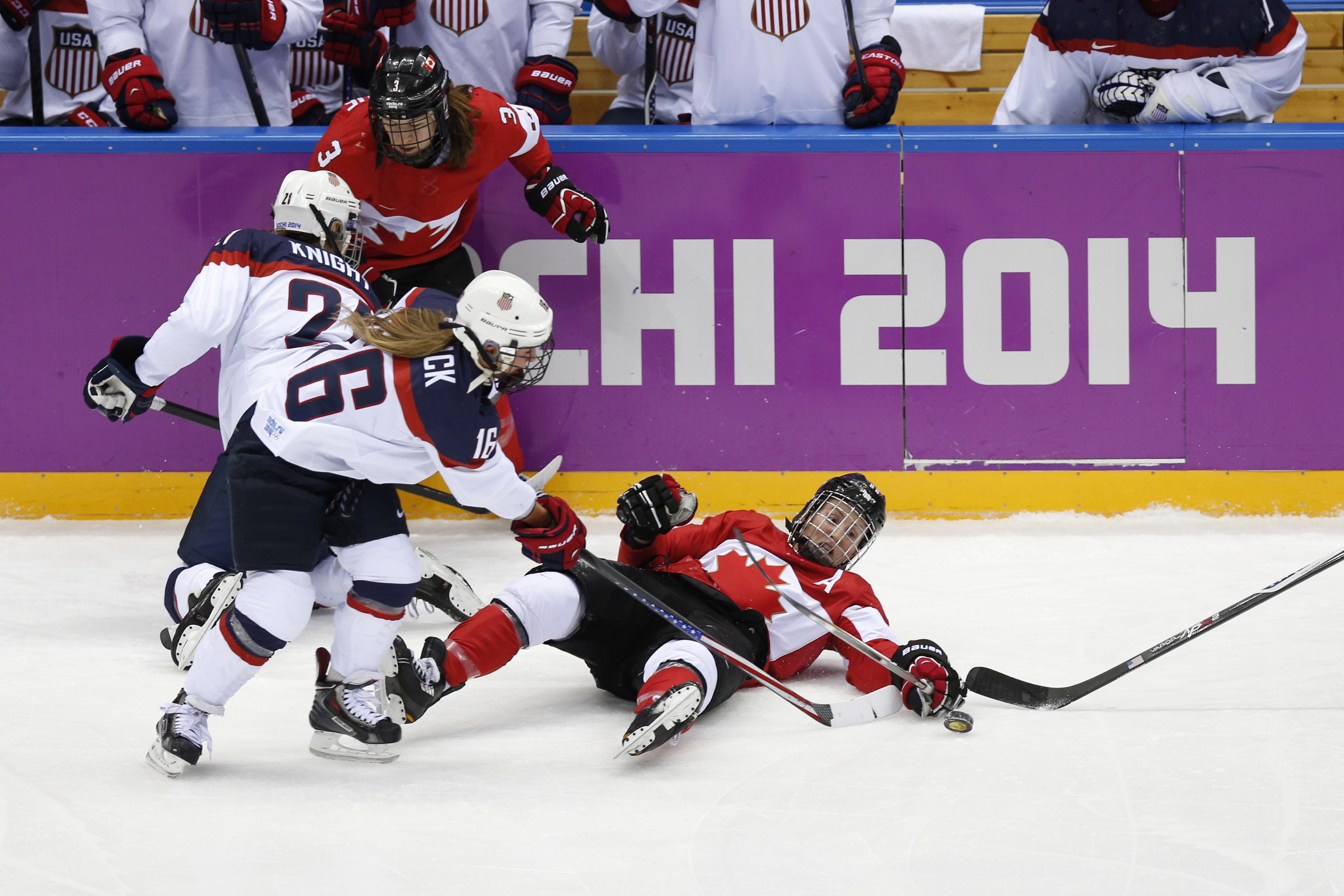 Sochi Olympics Day 15 Us Women S Hockey Falls To Canada