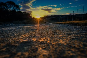 depth of field sunset with winding dirt road - DOF, sky, cloud, twilight, outdoor, nature