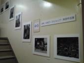 階段ギャラリーの展示