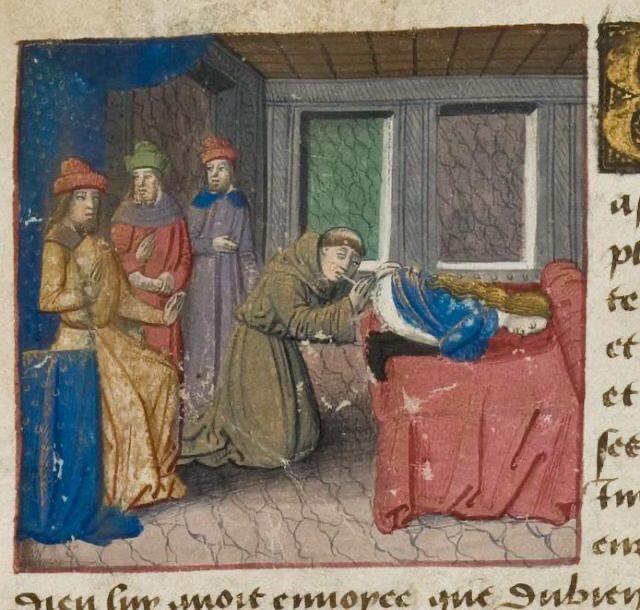 Miniatuur, Les Cent Nouvelles nouvelles, ca. 1475-1500, Ms. Hunter 252 Glasgow