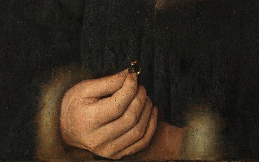 Jan van Eyck, Portrait of Jan de Leeuw (detail), 1436, Kunsthistorisches Museum Vienna