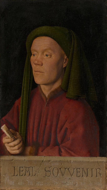 Jan Van Eyck, Portrait of a Man ('Léal Souvenir'), 1432, National Gallery London