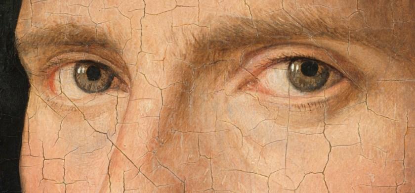 Jan van Eyck, Portrait of Jan de Leeuw (detail eyes), 1436, Art History Museum Vienna