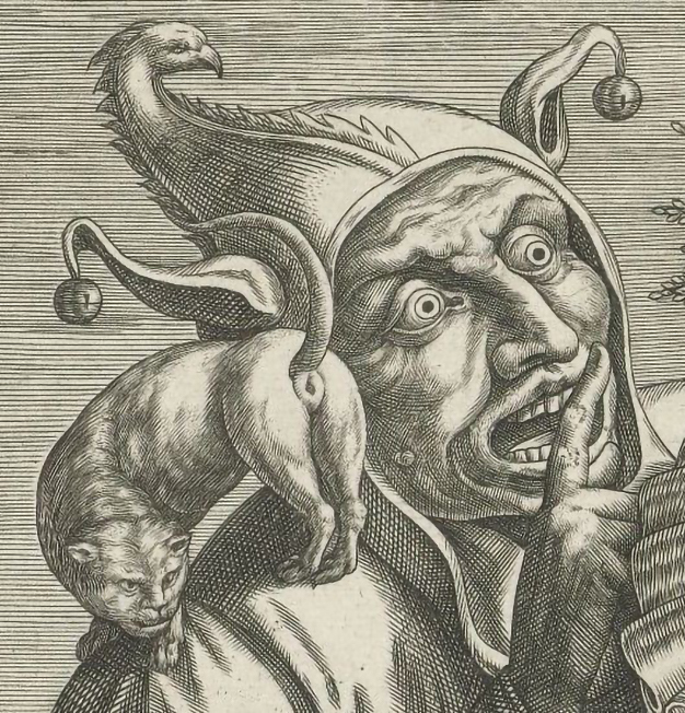 Anonymous, Woman with a mirror and Jester (detail), ca. 1600, Rijksmuseum Amsterdam