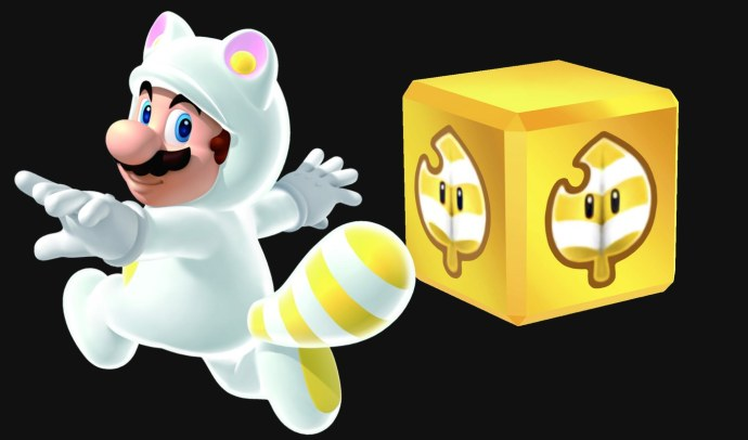 Super Mario 3D World White Tanooki Mario