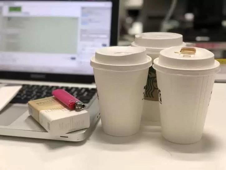 タバコ_コーヒー