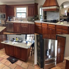 Kitchen Make Over Grey Cabinets A 90 S Makeover