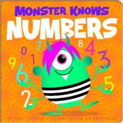 Monster Knows Numbers, by Lori Capote- Age Range: 2-4
