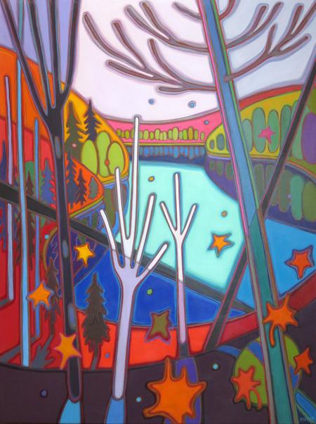 Autumn Colours - Autumn in Muskoka 36 x 48 - Darlene Kulig
