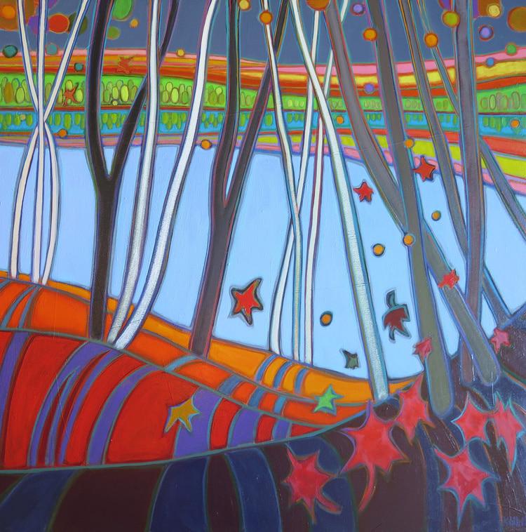 Autumn Colours - Big Doe Warm Light 30 x 30 - Darlene Kulig