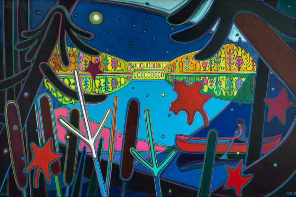 Autumn Colours - Moonlight Reflection Waters of Silence 5 - Darlene Kulig