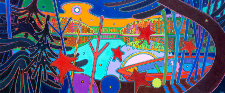 Autumn Colours - Muskoka Sunset 42 x 84 - Darlene Kulig