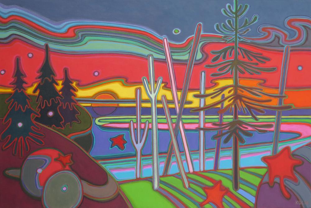 Autumn Colours - Sunset Salutations 24 x 36 - Darlene Kulig