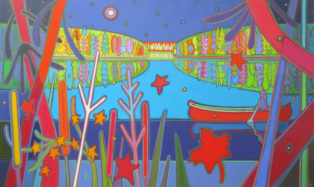 Autumn Colours - Waters of Silence 36 x 60 - Darlene Kulig