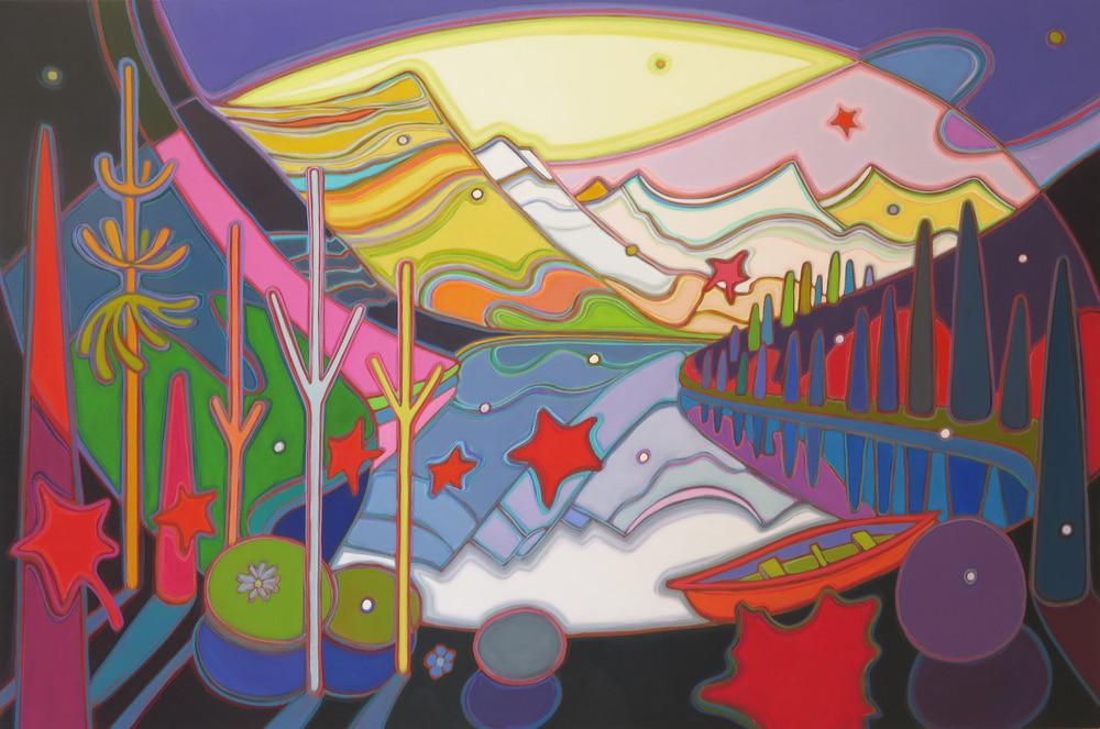 Canadian Rockies - New Dawn Awakening 40 x 60 - Darlene Kulig