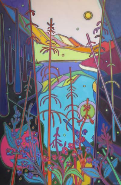 Canadian Rockies - Rebirth Wildflower Dance 60 x 40 - Darlene Kulig