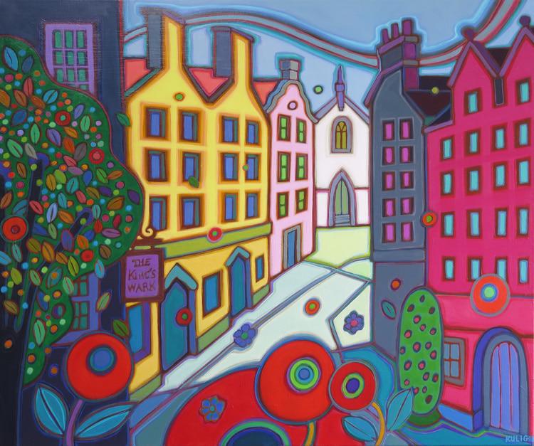 Europe - The Kings Wark Edinburgh 30 x 36 - Darlene Kulig
