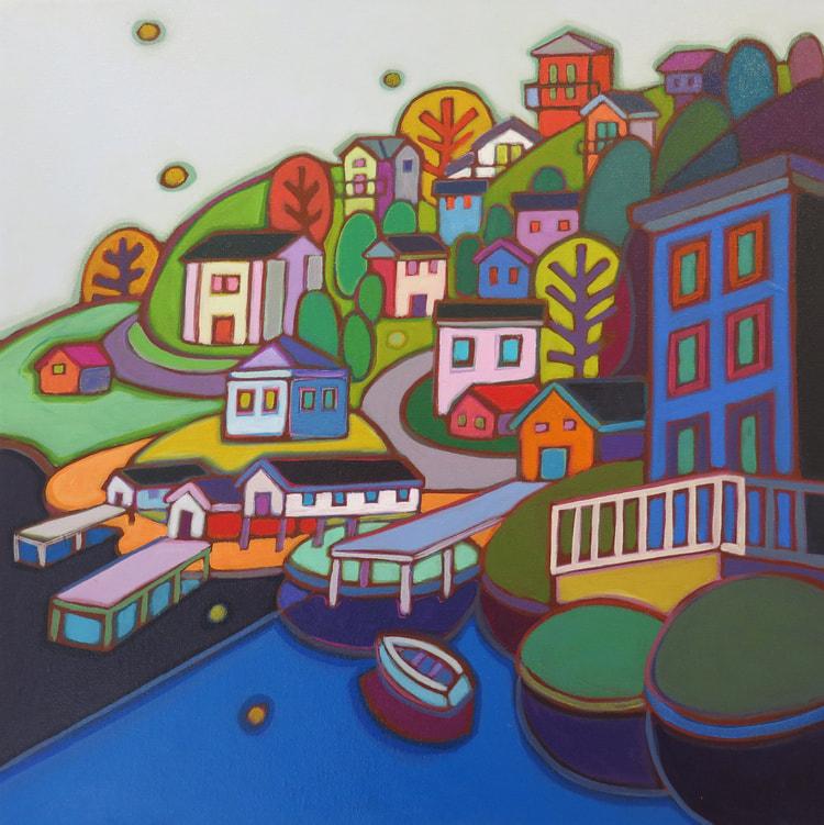 Newfoundland - Jelly Bean Hill 20 x 20 (1) - Darlene Kulig