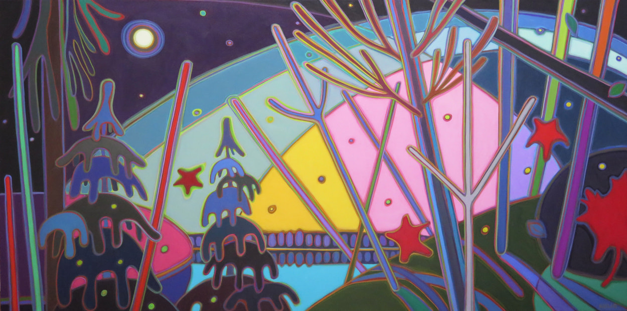 Northern Lights - Dawn of a New Day 30 x 60 - Darlene Kulig