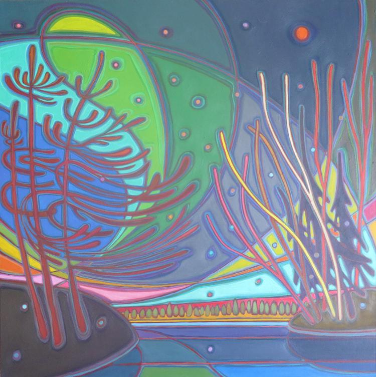 Northern Lights - Northern Lights Midnight Dance 30 x 30 - Darlene Kulig