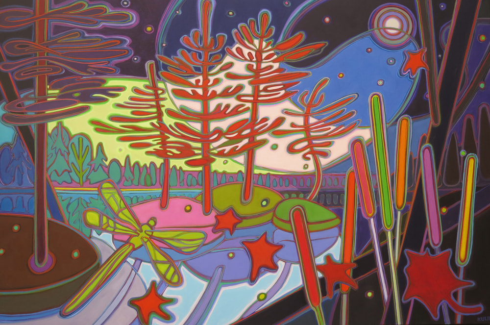 Northern Lights - Tell Me a Bedtime Story 40 x 60 - Darlene Kulig