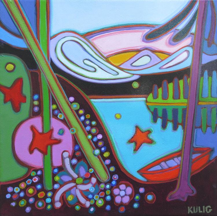 Small Canvases - Jasper HIke 12 x 12 - Darlene Kulig