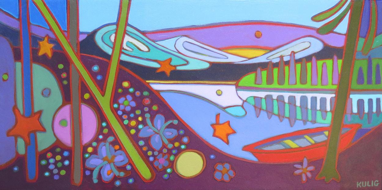 Small Canvases - Jasper Hike 12 x 24 - Darlene Kulig