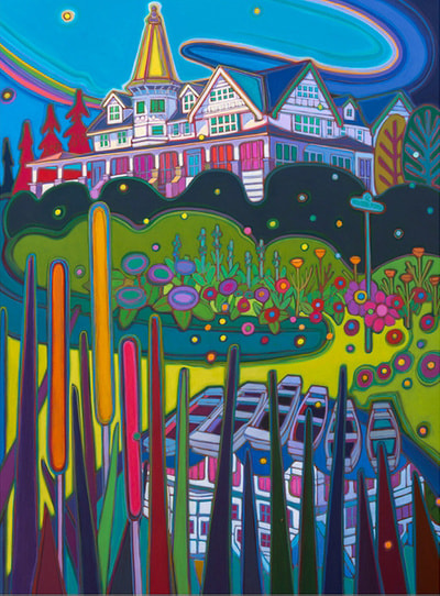 Small Towns and Villages - Down by the fishing Pond - Darlene Kulig