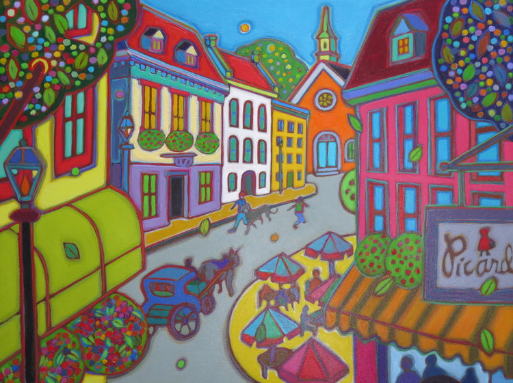 Small Towns and Villages - Promenade de Chein 18 x 24 - Darlene Kulig