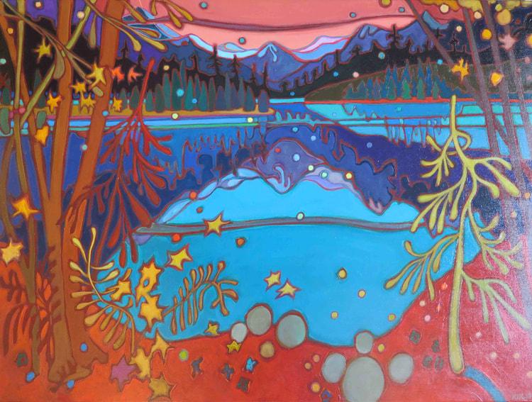 Whistler - Crimson Sunset 30 x 40 - Darlene Kulig
