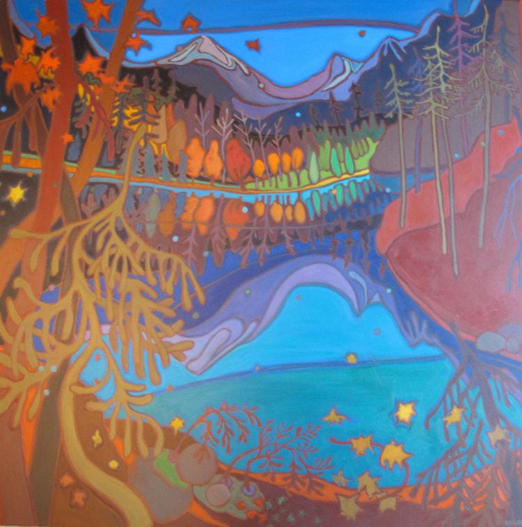 Whistler - Mountain Reflection 48 x 48 - Darlene Kulig