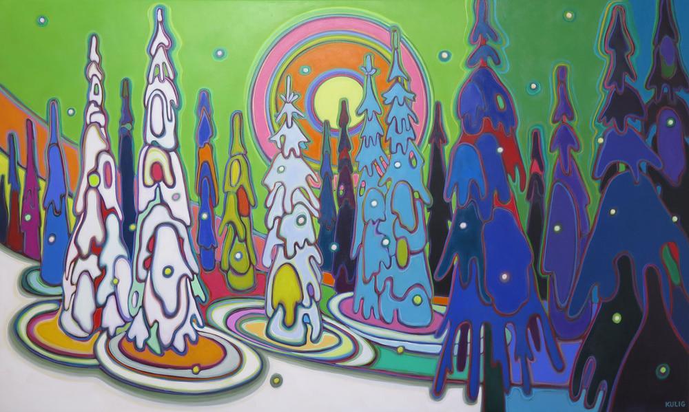 Winter Wonderland - Gaurdian Angels36 x 60 - Darlene Kulig