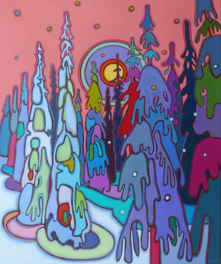 Winter Wonderland - Snow Ghosts 30 x 36 - Darlene Kulig (1)