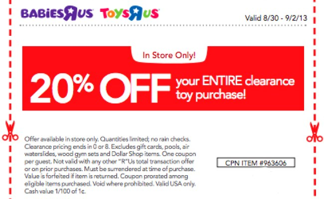 Wow 20 Off Toys R Us Toy Clearance Printable Coupon