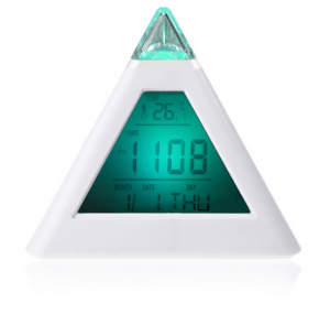 home alarm clock pyramid
