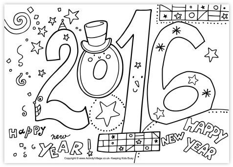 new-year-coloring-page