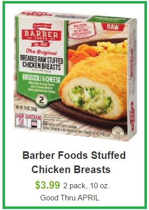 barber foods coupon deal darlene michaud