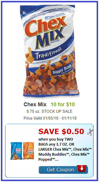 chex mix coupon deal shaws darlene michaud