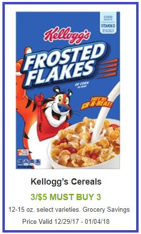 kelloggs cereal coupon deal shaws darlene michaud