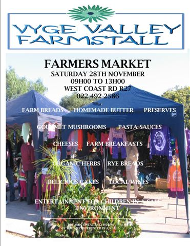 Farmers market at Vyge Valley