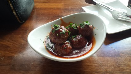 Savory meat balls.